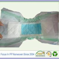 Wholesale Spunbonded 100% pp non-woven hydrophilic fabric for baby disposable diaper from china suppliers