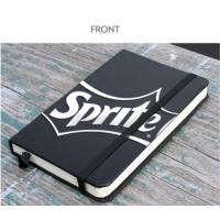 Buy cheap Black Matt PU Cover A5 Hardcover Note Book Printing With Customized Page from wholesalers