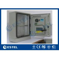 China Stainless Steel Outdoor Telecom Cabinet With Cooling System / Air Conditioner Type Telecom Enclosure on sale