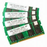 Buy cheap Laptop RAM DDR2 with PC6400/5300, 800/667MHz and 1/2/4GB, for All Mother Boards, 5-year Warranty from wholesalers