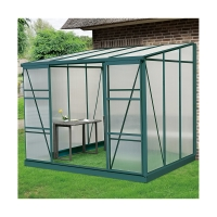 Buy cheap Pent Roof Aluminium Frame Greenhouse 8ft 1.0mm For Mushroom Polycarbonate Sheet from wholesalers