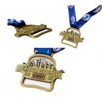 Wholesale Custom High Quality Lanyard Metal Medal for Sport ,High Quality  Enamel Metal Running Medal with Transfer Printed from china suppliers