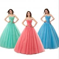 Buy cheap High Breathable Bridesmaids Wedding Dresses, Strapless Sequin A-line Dress for Wedding Party LXLSQ-1320 from wholesalers