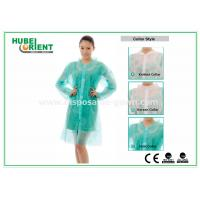 China PP & MP & TVK Disposable Laboratory Coats With Velcro And Shirt Collar on sale