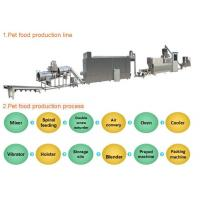 Buy cheap Smart Dog Food Production Machinery Large Capacity Pet Food Extruder Machine from wholesalers