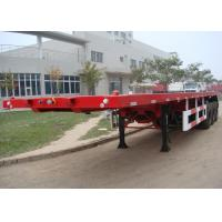 Buy cheap 35T Payload 40ft 3 axles Flatbed Semi Truck Trailer with Tail Retractable Design for Container Shipment to save Freight from wholesalers