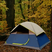Buy cheap Black 4-5 Person Family Waterproof UV Protection Black Coating Outdoor Camping Tent from wholesalers
