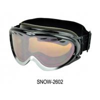China Flexible Snow Ski Goggles Snow , fashion ski goggles with Spherical Surface Light Purple Plated Silver Lens on sale
