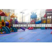 Buy cheap Colorful Polypropylene Interlocking Sports Flooring , Blue Plastic Playground Flooring from wholesalers