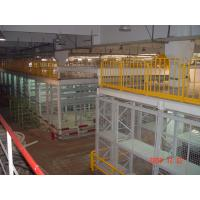 Buy cheap Multi Tier Racking System Multilayer Shelf Racks With Staircase / Railing from wholesalers