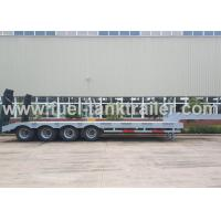 Buy cheap High End 80 Ton 4 Axle Low Bed Semi Trailer Non - Liftable Air Suspension from wholesalers