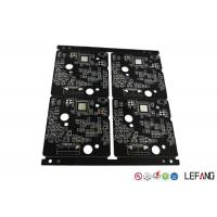 Wholesale Burglar Alarm High Frequency PCB , Quick Turn Pcb Fabrication 4 Layers Black Solder Mask from china suppliers