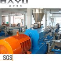 Buy cheap Polyamide 66 Flakes Granulator Parallel Twin Screw Extruder Machine from wholesalers