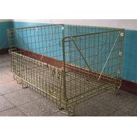 Buy cheap Warehouse Storage Pallet Cage Stackable Wire Mesh Metal Container from wholesalers