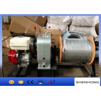 China HONDA Gas Engine Wire Rope Capstan Hoist / Cable Pulling Winch For Line Construction on sale