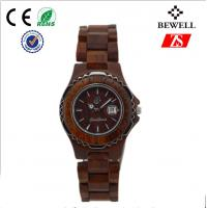 Cool Wood Wrist Watch , Japan Miyita Movement Wooden Wristwatch Manufactures