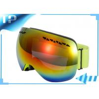 Buy cheap Yellow  Double Lens Reflective Polarized Snowboard Goggles Anti - Scratch from wholesalers