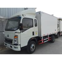 Buy cheap HOWO small FPR refrigerated box trucks 4X2 for fresh food transport from wholesalers