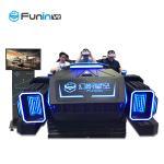 Buy cheap Indoor Games 9D VR Cinema Roller Coaster Amusement Park Ride Black Color from wholesalers
