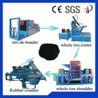 Wholesale Rubber Waste Tire Recycling Machine 80 Mesh Custom With 380V 50Hz from china suppliers