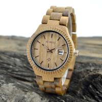 Natural Eco Friendly Classic Men Watches , Mens Waterproof Watches With Wooden Strap Manufactures