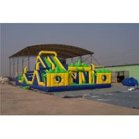 Buy cheap Giant Blow Up Slip And Slide For Adults , 3 Lane Water Slide For Birthday Parties from wholesalers
