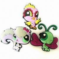 Buy cheap Eco-friendly PVC Lapel Pins with Butterfly Clutch, Customized Colors and Sizes product