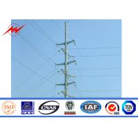 Buy cheap SGS Gr65 Galvanized 9M Electric Steel Power Pole For Power Transmission from wholesalers