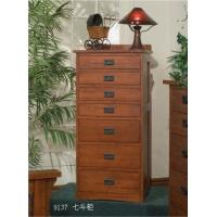 7 Drawers Storage Cabinet / American Country Style Bedroom Solid Wood American Red Oak Furniture / Woodware Manufactures