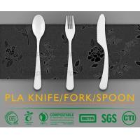 Buy cheap biodegradable and compostable PLA cutlery set, food cutlery set, biodegradable cutlery knife fork spoon from wholesalers