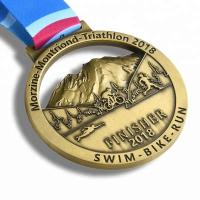Buy cheap Gold Finishing Boston 3d Printed Medals / Marathon Sports Award Medals from wholesalers