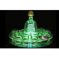 Buy cheap Gold Clear Wine Acrylic Holder Stand  / Led Acrylic Shot Glass Tray OEM from wholesalers