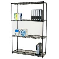 Buy cheap Carbon Steel Adjustable Wire Shelving Unit 4 Layers  In Work Place from wholesalers