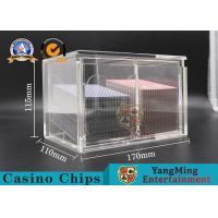 Buy cheap Transparent Plastic Playing Cards Carrier 8 Decks Cards Dealer Holder Factory Thickened Acrylic Drop Box from wholesalers