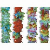 Buy cheap 100% Polyester Hawaiian Flower Leis with 90cm Long, Available in Multicolor from wholesalers