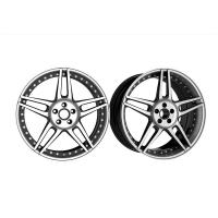 Buy cheap 22 Inch Custom Forged Wheels 3 Piece Structure Reverse Mount Five Split Spokes Staggered Wheels for Maserati from wholesalers