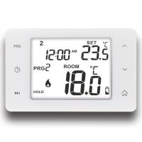 Buy cheap NTC Sensor Wired Room 7 Day Programmable Touch Screen Floor Heating Thermostat from wholesalers
