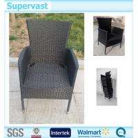 China Resin Wicker Garden Furniture Stackable Rattan Chairs / Outdoor Rattan Furniture on sale