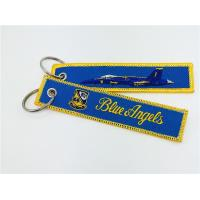F-18 proudly flying the Blue Angels Embroidery Keychain  Key Chain Manufactures