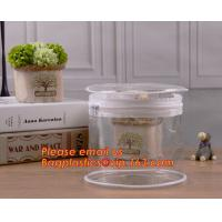 Buy cheap clear cylinder circular promotional storage pvc zipper closure cosmetic bags, barrel bags, cylinder packing vacuum cup p from wholesalers