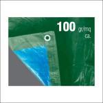 Buy cheap Green / Blue heavy duty waterproof canvas fabric PE Tarpaulin 100 Gram from wholesalers