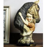Buy cheap Little Girl and horse Ornaments Resin Craft from wholesalers