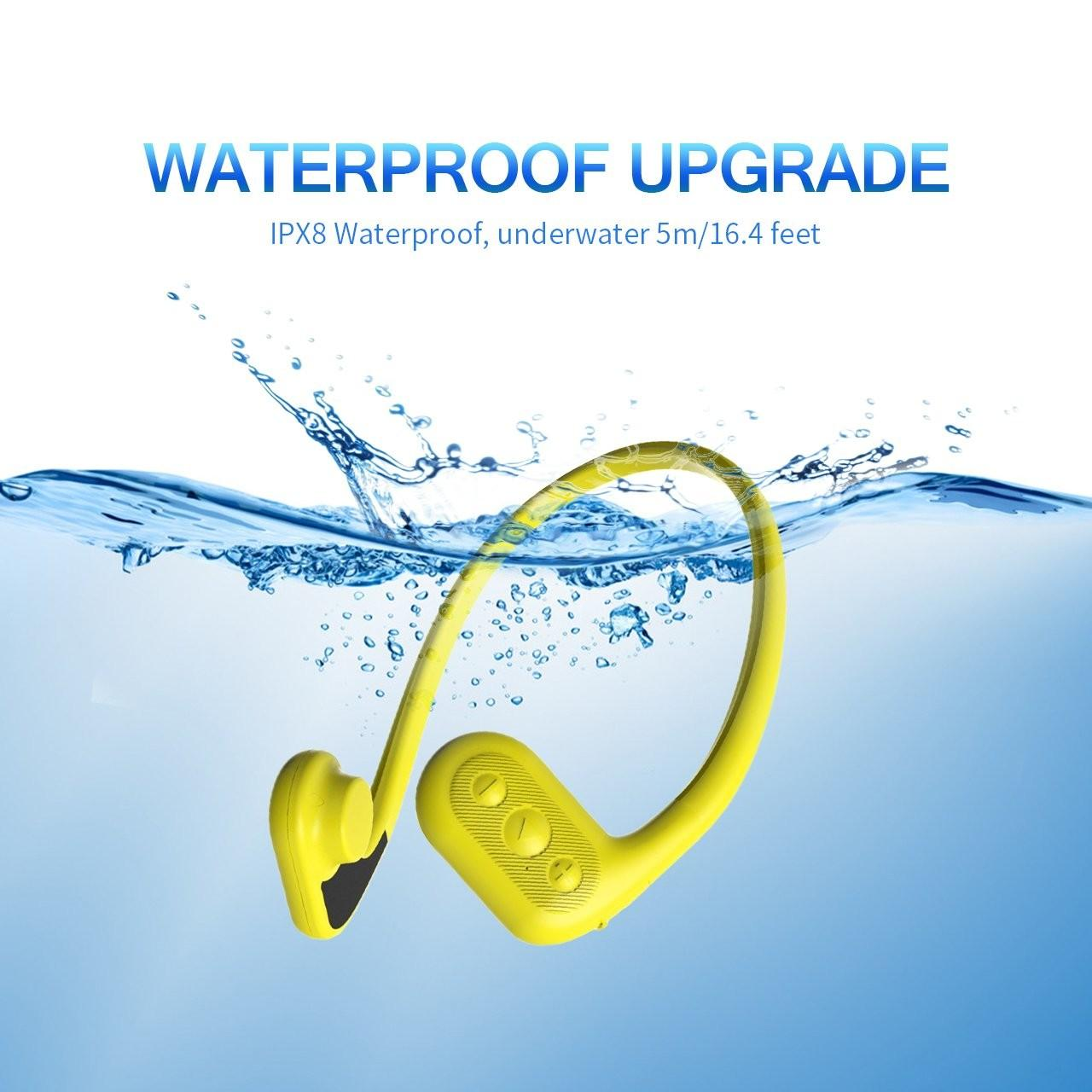 Buy cheap Conduction Waterproof Headset mp3/FM Bone Conduction Waterproof mp3 Player for Swimming from wholesalers