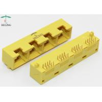 Wholesale 1x4 Port RJ45 Female Connector Right Angle MJ5388-Y014-HRN1 / RJ 45 Network Jack from china suppliers