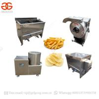 Buy cheap Small Scale Semi Automatic Fryer Home Use Sweet Frozen French Fries Production Line Finger Potato Chips Making Machine from wholesalers