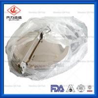 China Stainless Steel Sanitary Manways Cover Normal Pressure Hygienic Round Manhole on sale