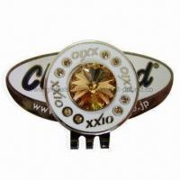Buy cheap Golf Hat Clip with Crystal Ball Marker from wholesalers