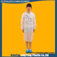 Buy cheap Elastic Cuff Waterproof Disposable Non Woven Lab Coat Puncture Resistant from wholesalers