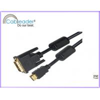 26 AWG copper conductor DVI-D Monitor Cables DVI 18+1 male To HDMI 19pin male Manufactures