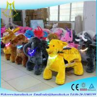 Hansel hot-selling rocking motorcycle kids family amusment park movingplush toy on animals entertainment play equipment Manufactures